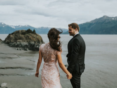 Valerie + Joshua's Alaskan Anniversary Session in the Mountains